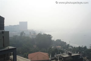 Smog over Pattaya